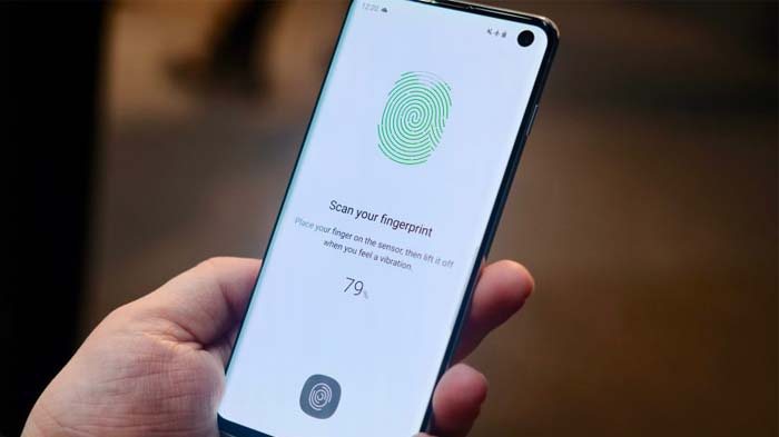 use fingerprint scanner on samsung galaxy s10