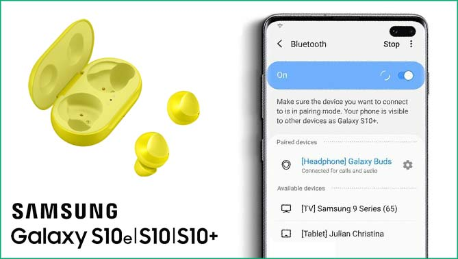 galaxy s10 bluetooth won't pair
