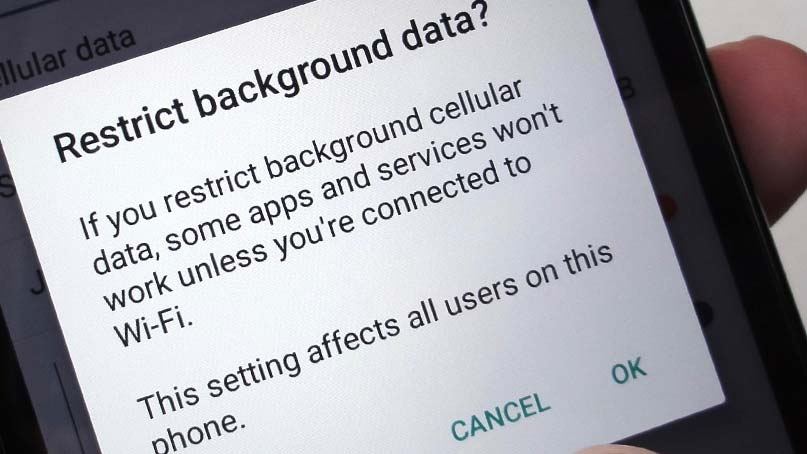 restrict background data on galaxy s10
