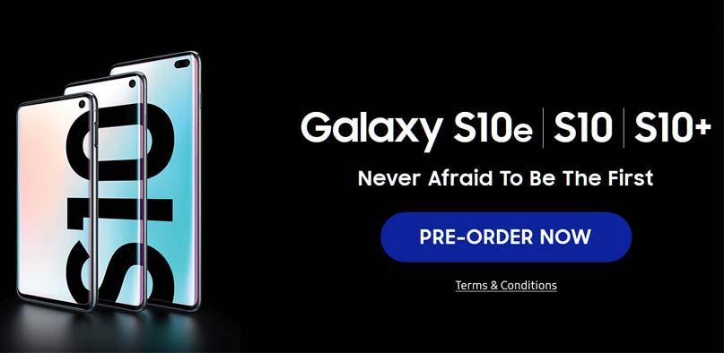 galaxy s10 pre order
