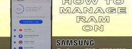 manage ram on galaxy s10